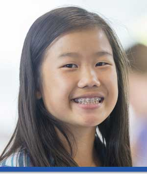 Young Girl with Braces Phot at Associated Orthodontists in Wausau Marshfield Eau Claire WI