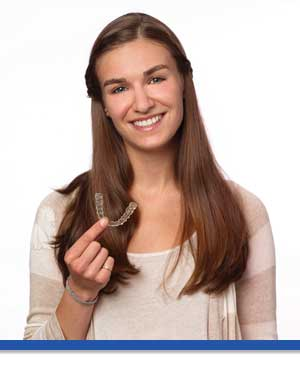 Invisalign Teen Aligner in Hand at Associated Orthodontists in Wausau Marshfield WI