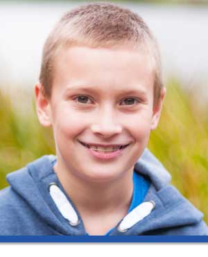 Boy In Blue Photo at Associated Orthodontists in Wausau Marshfield WI