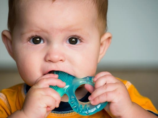 Infant Teething Photo at Associated Orthodontists in Wausau Marshfield Eau Claire WI